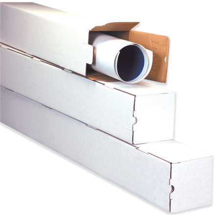 White Square Mailing Tubes